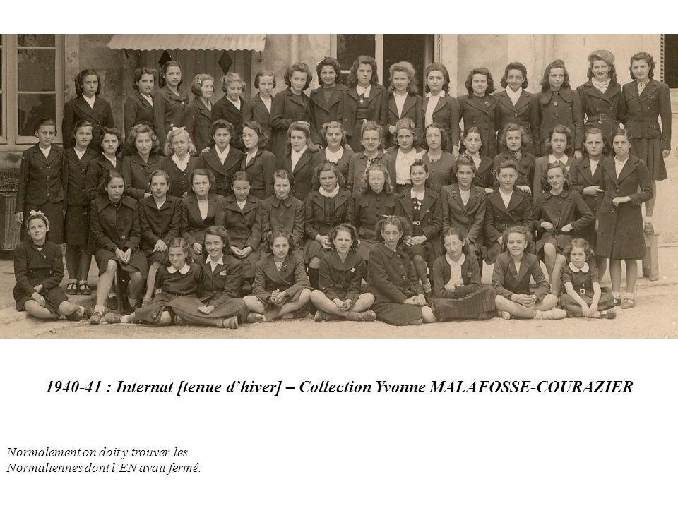 1940-41 : Internat [tenue d'hiver] – Collection Yvonne MALAFOSSE-COURAZIER